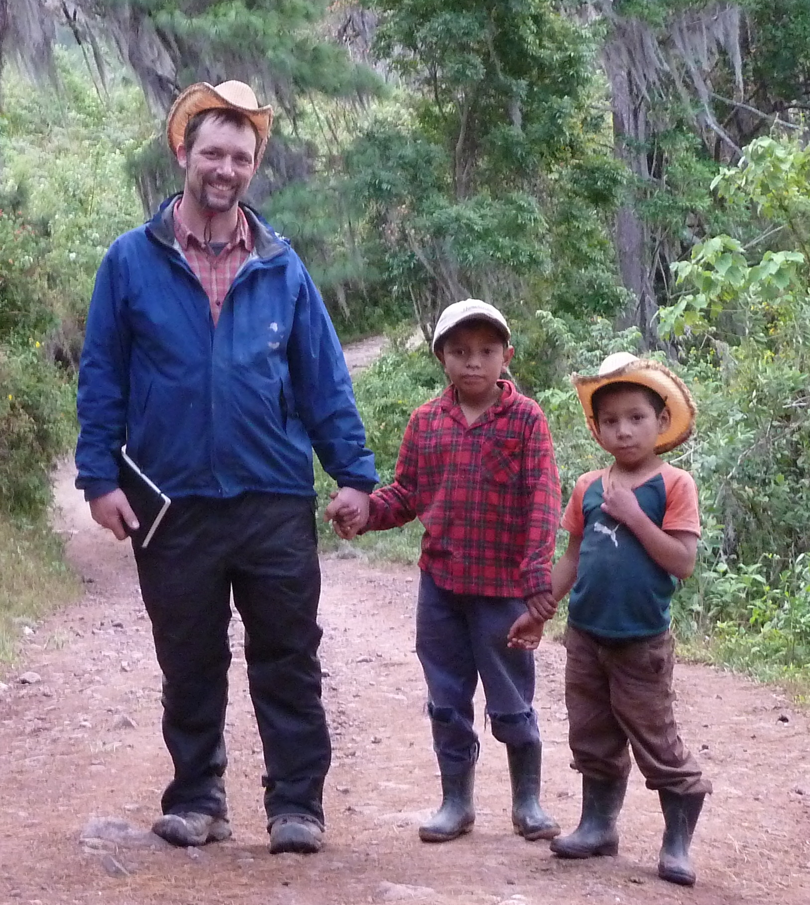 Andy with friends in Honduras