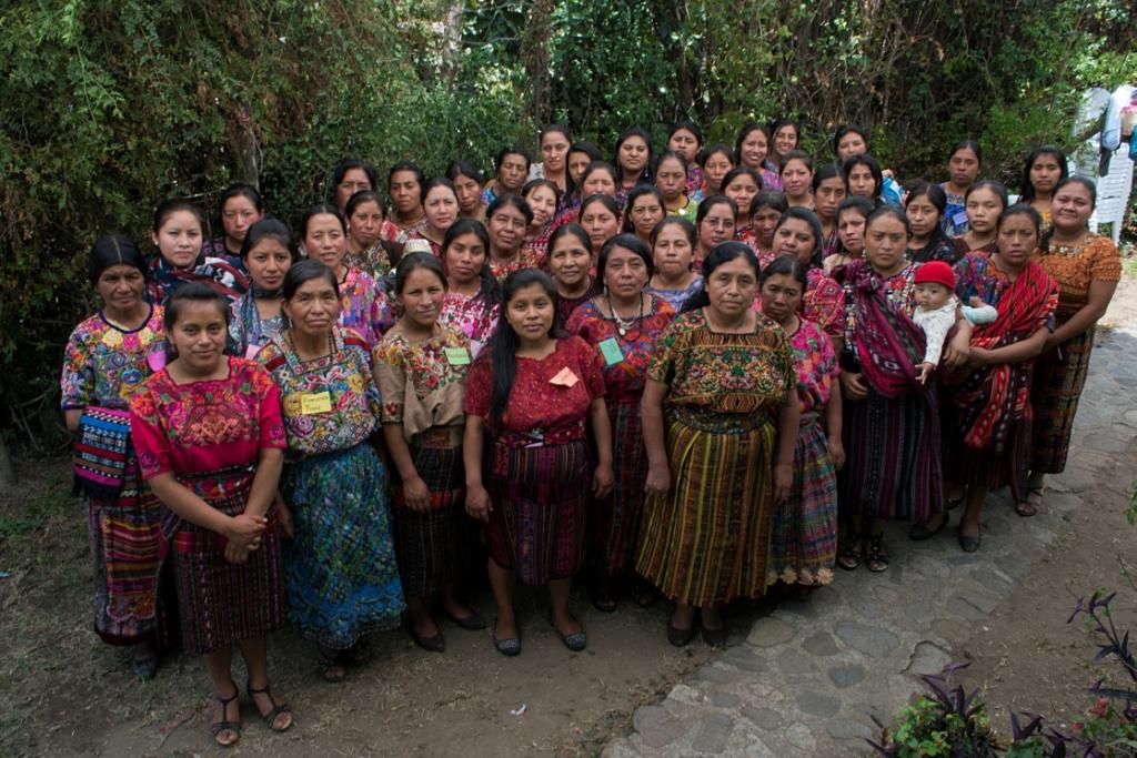 Multicolores Maya Women's Rug Hooking group in Guatemala.jpg