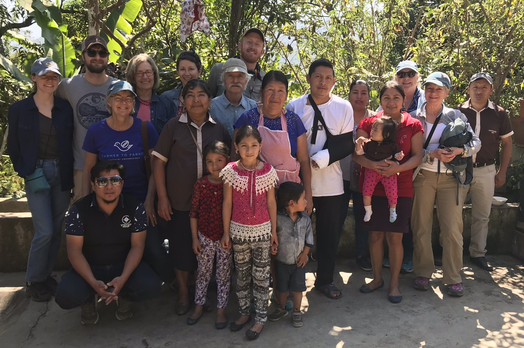 F2F group in Guatemala with coffee farmers and families.