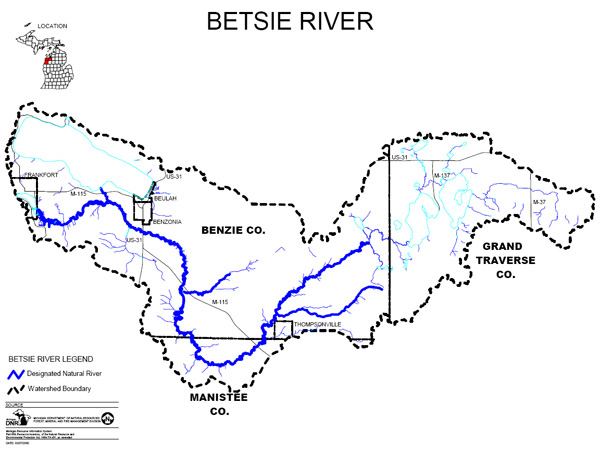 Betsie River Map