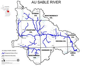 Au Sable River Map
