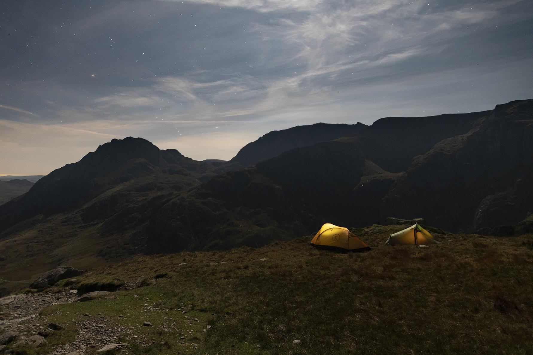 Glyderau Wild Camp on Y Garn