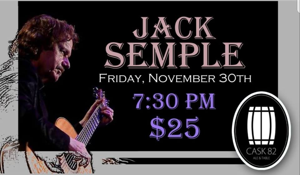Jack Semple is back with his fantastic sets! Do not miss out on this Saskatchewan legend! There is VERY limited seating so get your tickets today at Cask 82 or follow the link below!