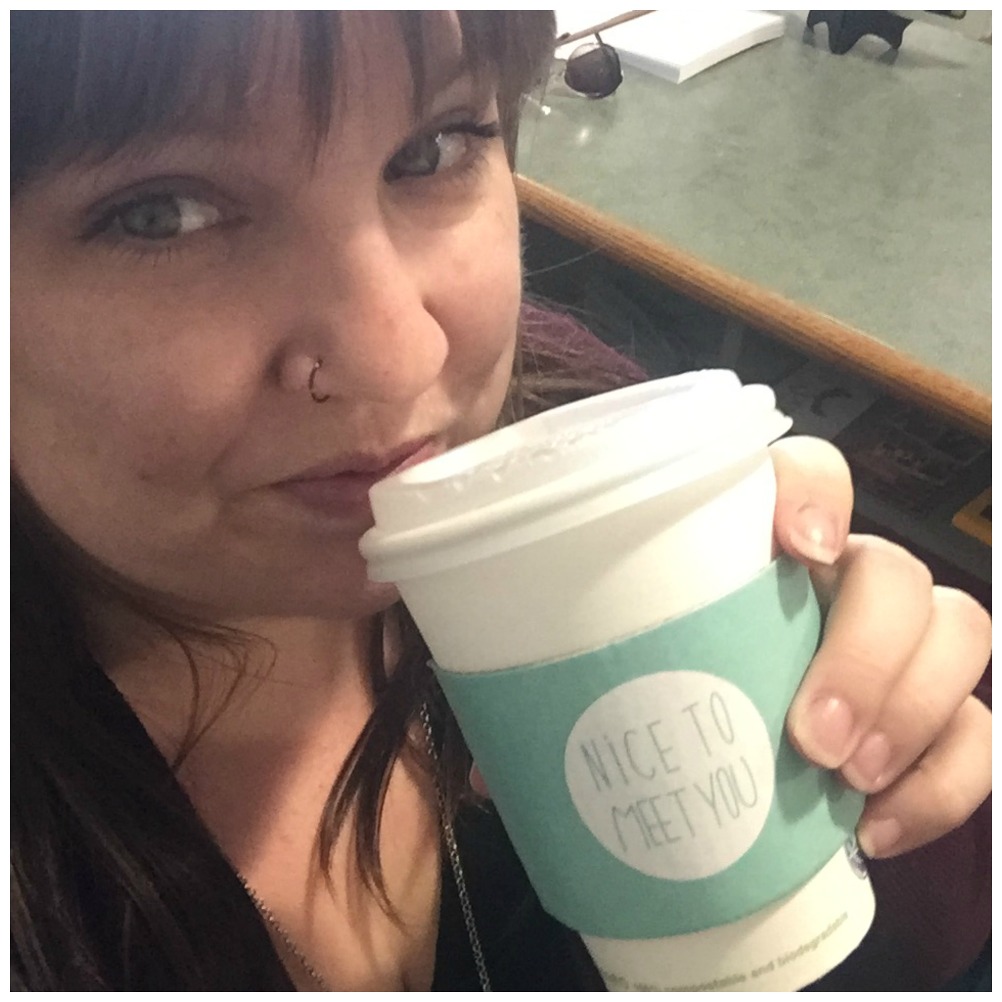 Enjoying my Lavender Earl Grey Tea. Thanks Shirley!