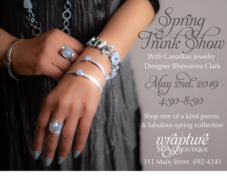Join us this Thursday evening 4:30-8:30 pm for a Spring shopping event with Jewelry designer Bhawana Clark!  Just in time for Mother's Day!