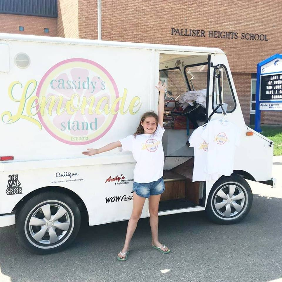 Cassidy's Lemonade Truck will be popping up at Palliser Heights School in Moose Jaw.  Friday, June 21, 2019 - 1pm - 5pm & Saturday, June 22, 2019 - 11am - 3pm  All proceeds to Cystic Fibrosis advocacy and research to find a cure.