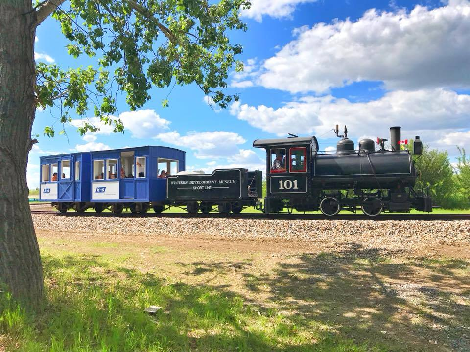Hop aboard Saskatchewan's only operating steam locomotive and make memories that will last a lifetime!   ADMISSION  $5 per ride $15 per family per ride (2 adults and dependent children)  Tickets can be purchased at the front desk.