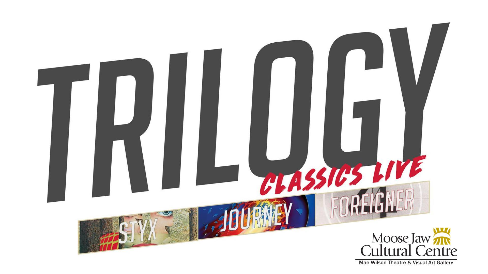 Trilogy Classics Live is a group of 5 world class, studio journeymen musicians/entertainers brought together by their admiration for the legendary sounds of 3 of the world's most successful, multi-platinum selling acts of the commercial rock era....  JOURNEY, FOREIGNER and STYX   Trilogy Classics Live will take you back to the vinyl era performing hit after hit from a set list catalog from most memorable and successful songs ever written!  Hear all your favorite hits, recreated live on stage exactly as the original recordings, sound for sound and note for note.  Come out and sing along. You will know all the words.