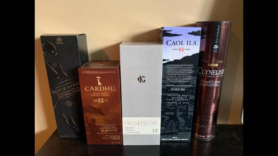 Scotch Tasting: Thursday Sept. 19th @ 7:30 pm.  Tickets $25 each. Limited seating available. We will be exploring Johnnie Walker Black Blended Scotch Whisky and the 4 main single malts that it uses: Cardhu, Caol Ila, glenkinchie, and Clynelish