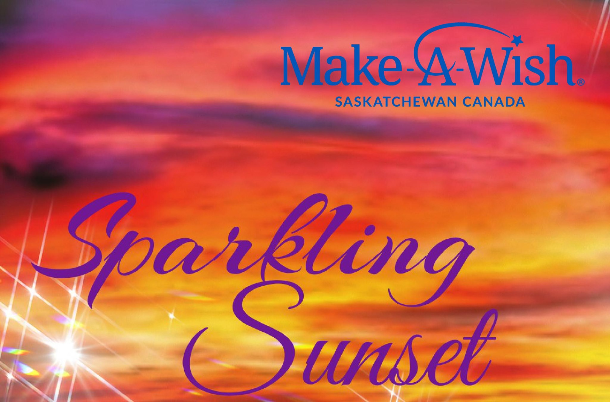 """Moose Jaw Temple Gardens Hotel and Spa and enLeigh Designs are proud to present Sparkling Sunset in support of Make-A-Wish Saskatchewan. Join us Friday, September 20th, 2019 for an evening of wonderful wishes, soulful sounds, and delectable desserts. Our evening begins at 6pm with cocktail hour followed at 7pm with supper and then an array of amazing desserts to satisfy any sweet tooth. Browse our raffle items and prepare for the auction while you enjoy the musical offerings of local favorite Stadacona Soul.   Tickets are $65 per person or pick up our """"Take the elevator home"""" package and receive 2 tickets to Sparkling Sunset and a one night stay at the Temple Gardens Hotel for only $189.00  Have a group of friends that want a night out? Want to make it a corporate event? Tables of 8 are available for $500.  Tickets are limited so get your early to guarantee your spots."""