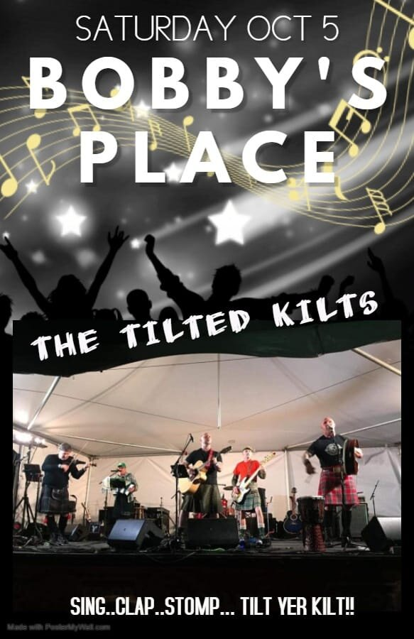 Come and join us, The Tilted Kilts, at our home away from home.. the legendary Bobby's Place in Moose Jaw, Sk. One night of foot stomping, hand clapping East Coast shenanigans!!