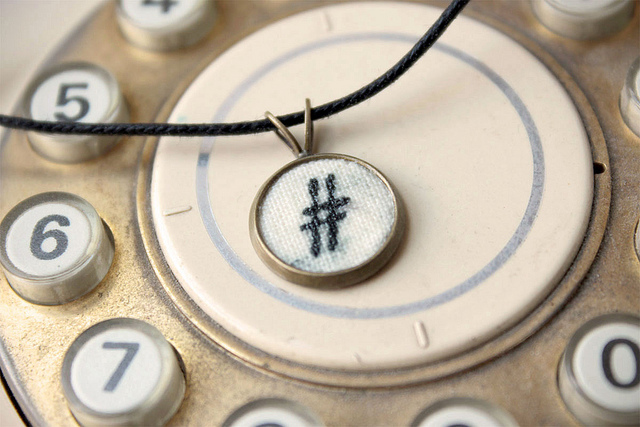 """Ace of Hashtags"" by Roberta Cortese (satyrika on Flickr), used under a Creative Commons License. https://www.flickr.com/photos/satyrika/8093127848"