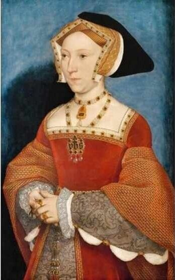 Jane Seymour, Queen of England. Oil on Wood. 1536, by Hans Holbein.