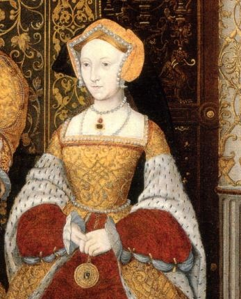 "Jane Seymour, from ""The Family of Henry VIII"" c. 1543-1547. Unknown artist, after Holbein. Hampton Court Palace."