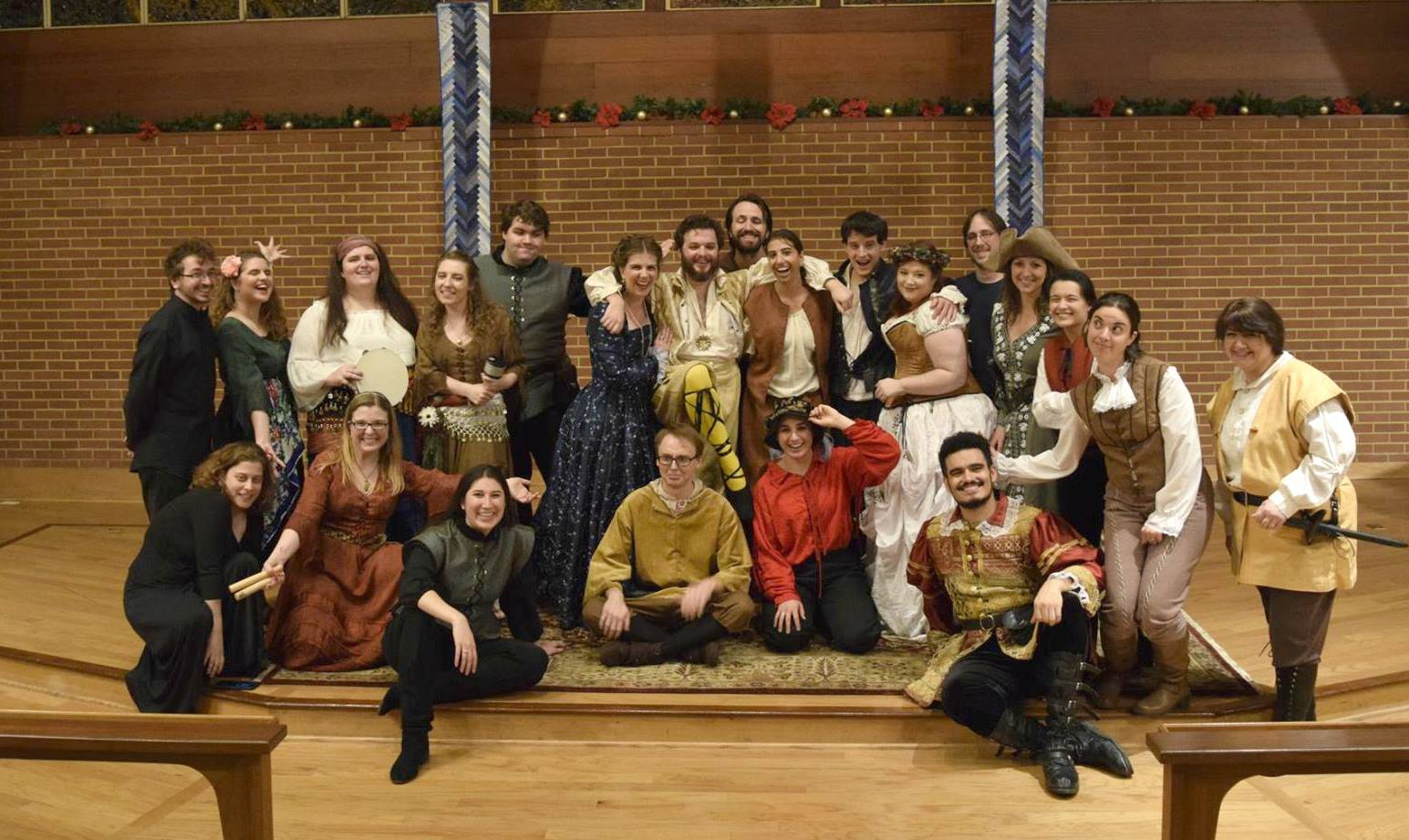 The Britches and Hose Production of Twelfth Night in 2017. I was a wandering singing musician person - we called ourselves the Festettes!
