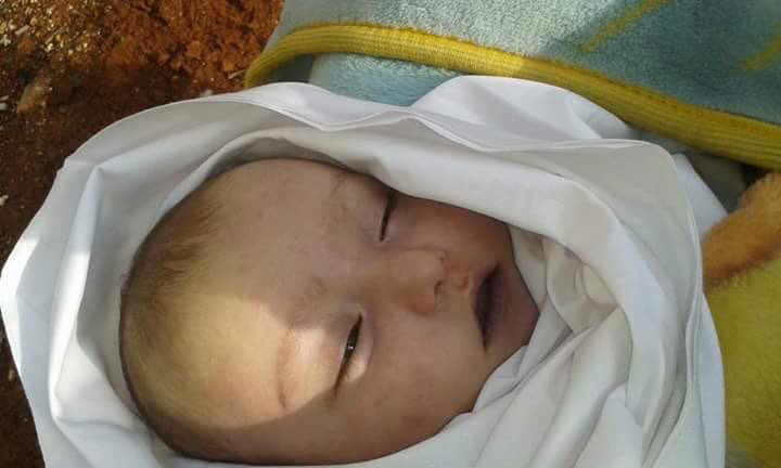 Ibrahim Ma'youf, a 4 month old, died of hypothermia during the conflict.