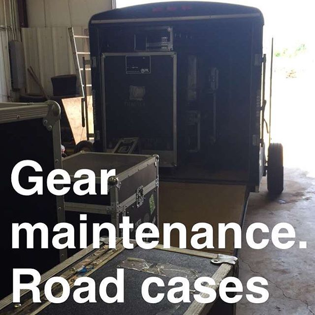 Doing a little maintenance to get ready for the fall tour. #tourlife #roadcase #livemusic