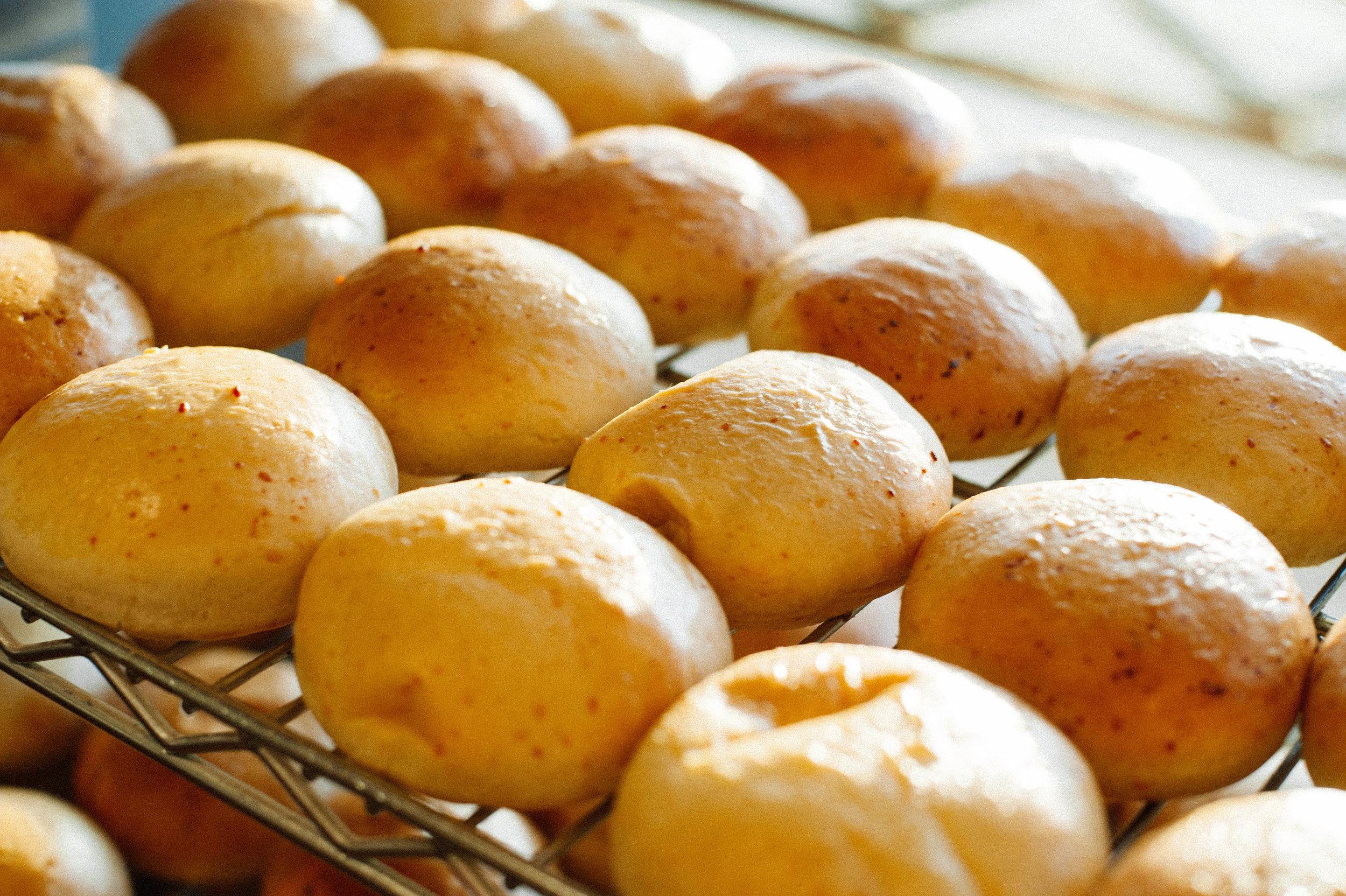 Homemade dinner rolls fresh baked