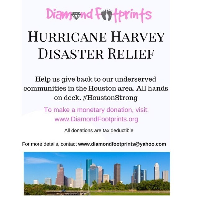 We are still accepting donations to help Houston families. Donate today! Leave your footprint 👣 and help rebuild OUR communities. #HurricaneHarvey #HelpHoustonHeal #RebuildHouston #AcresHomes #Studewood #3rdWard #5thWard #Sunnyside #SouthPark