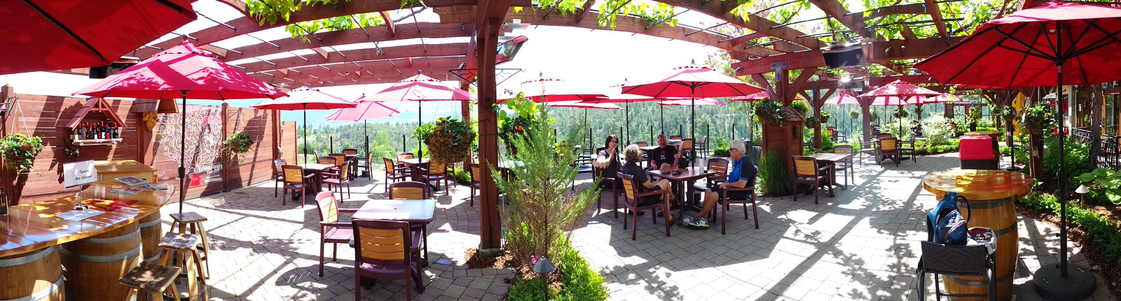 Dirty Laundry Winery's Patio   In Summerland