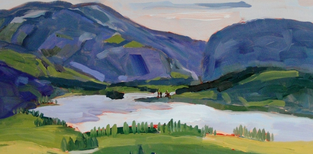 Vaseux Lake in May (Detail)  by Angie Roth McIntosh