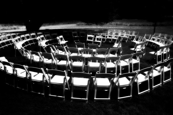 """A """"ceremony in the round"""" that I helped plan as a wedding muse."""
