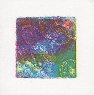 "CMYK test 2 $10   Monotype  4"" x 4""  2017"