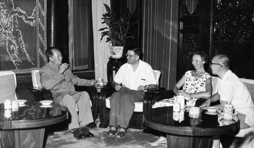 E.F.Hill and Joyce Hill with Chairman Mao Tse-tung - July 22nd 1963