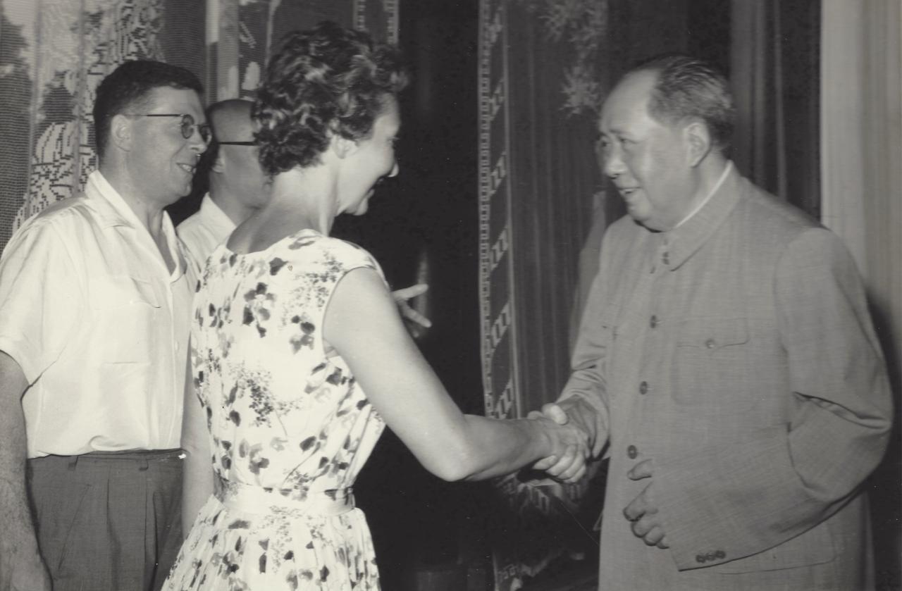 Joyce Hill and Chairman Mao