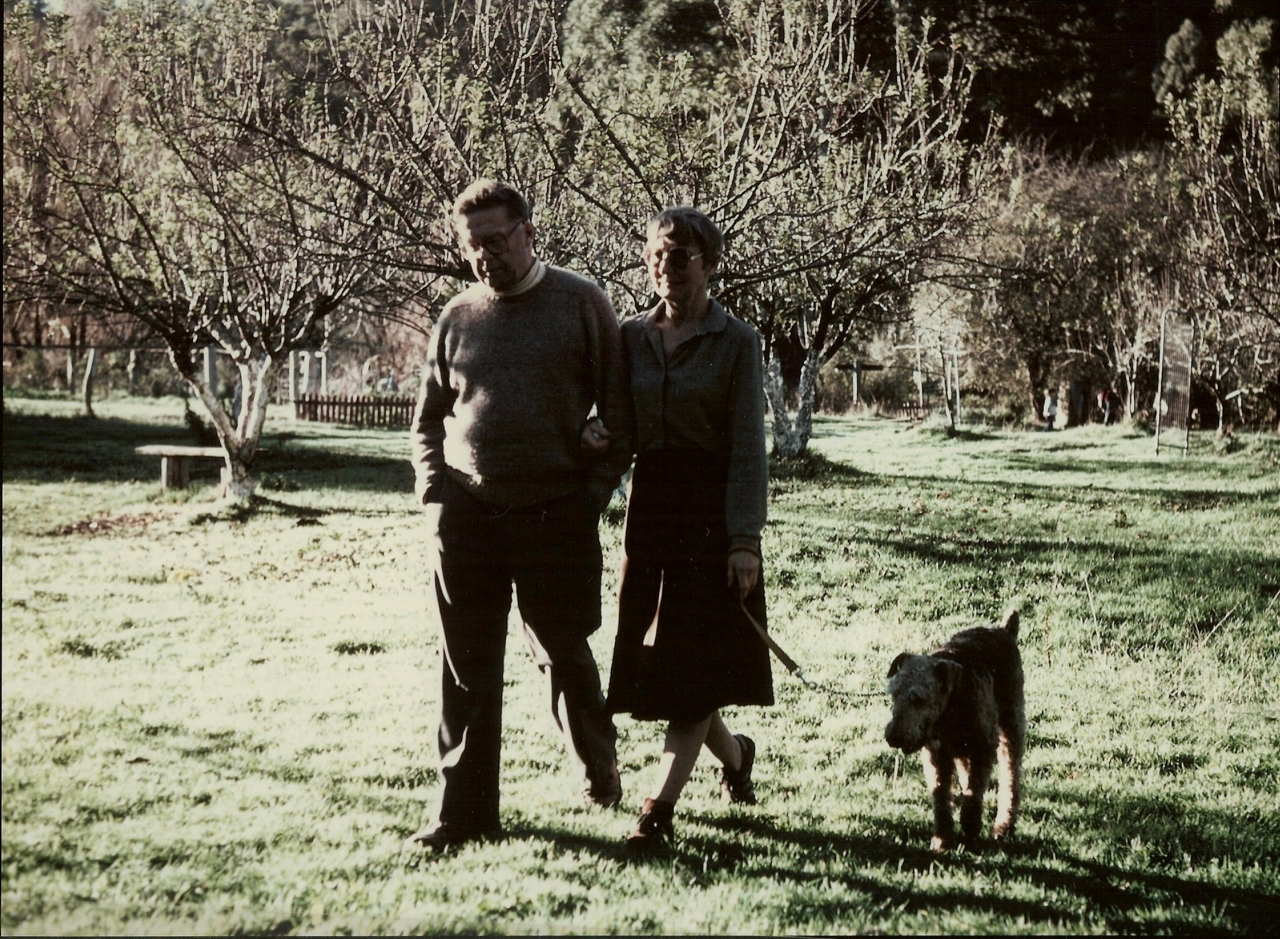 Ted, Joyce and their dog (1986)
