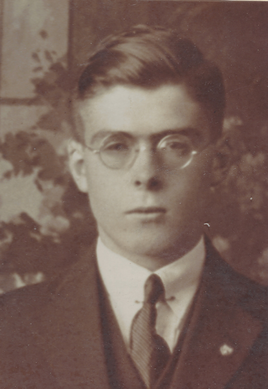 Ted Hill as a young man