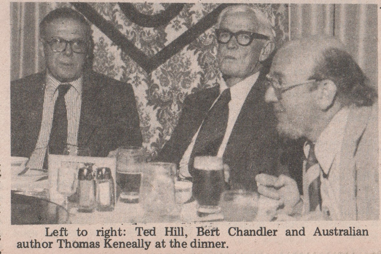 Ted Hill and Thomas Keneally