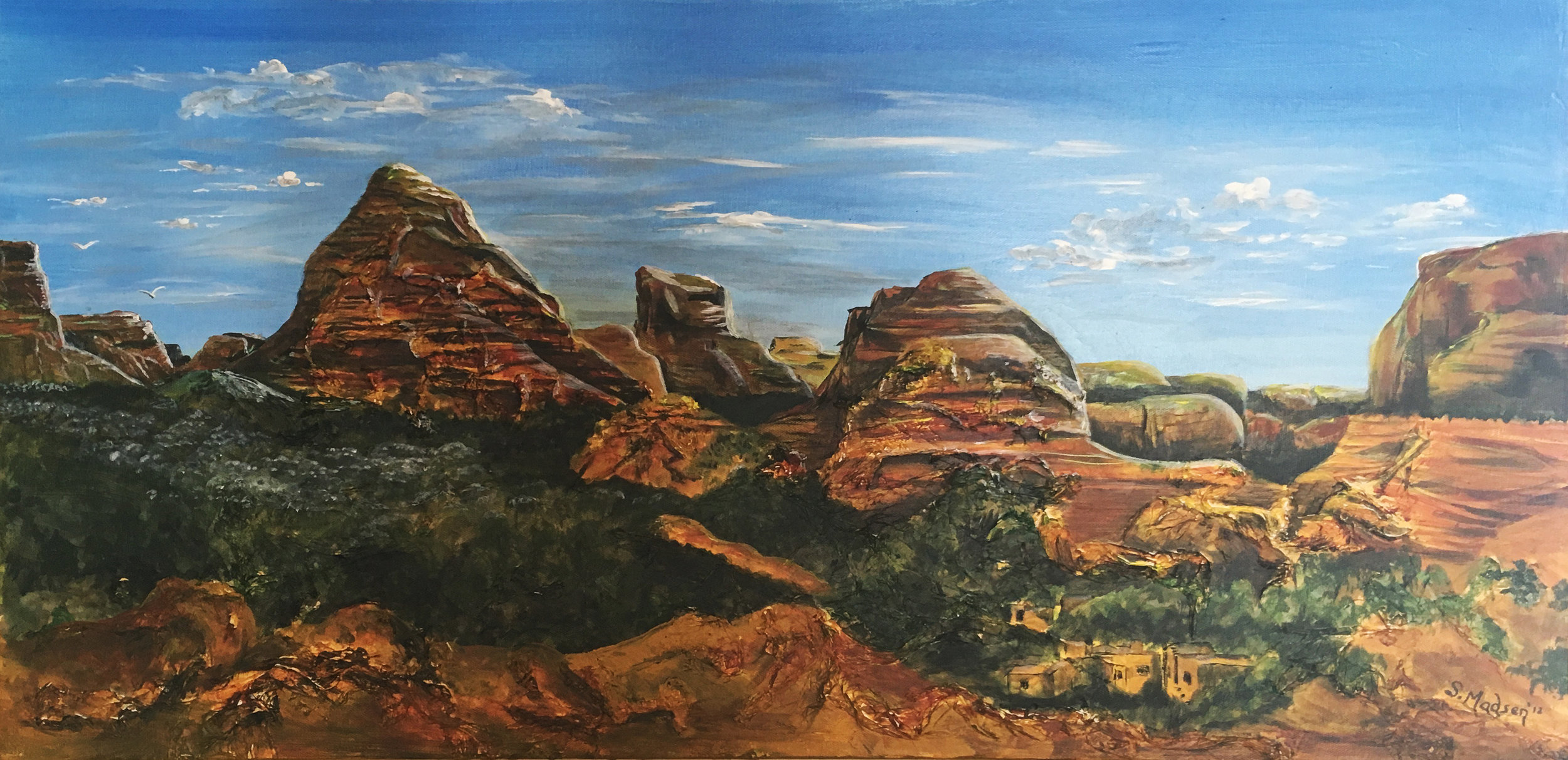 Arizona, mixed media on canvas - private collection