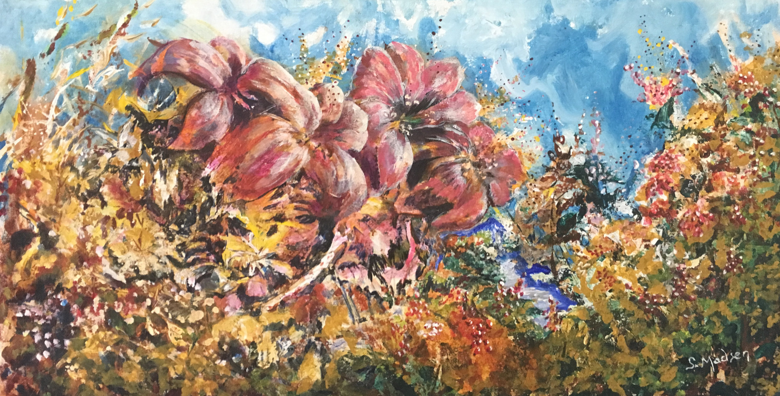 Garden Party 2, Mixed Media on canvas © Shauna Madsen