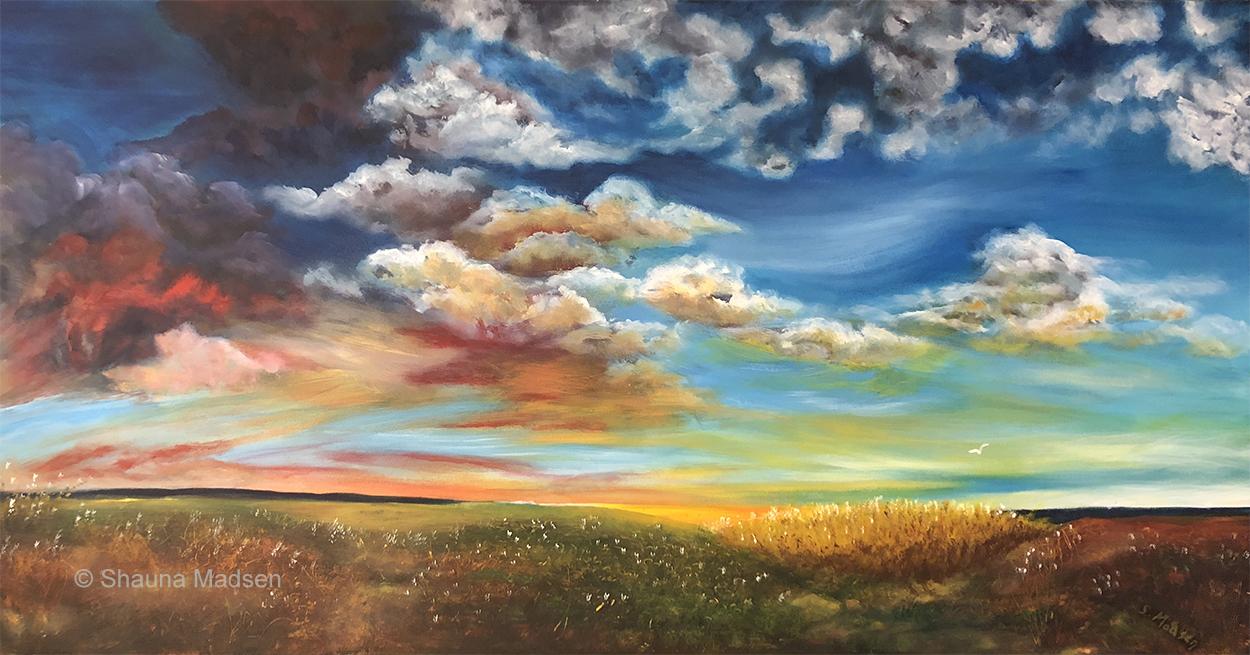 Prairie drama - private collection