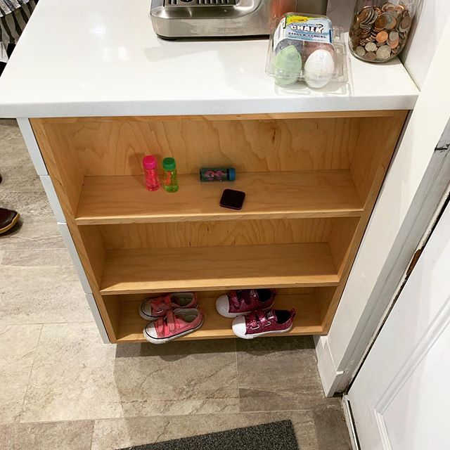 Always good to see things get put to good use ... #mod #millworkbymod #architecture #customcabinets #design #storage #toddlersize #stl #stlouis