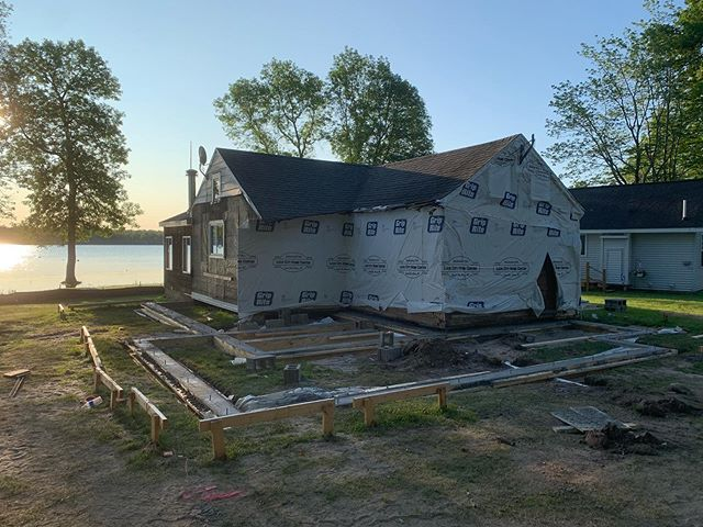 A quick couple days in Barbeau to finish up the foundation. Back in a couple weeks to knock out some framing ... #mod #designbuild #michigan #U.P. #family #cottage #remodel