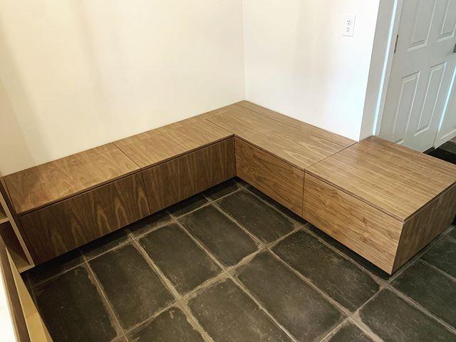 We love our benches. #mod #designbuild #custommillwork #customcabinets #modernfurniture #mhk #kansas #colorado #missouri