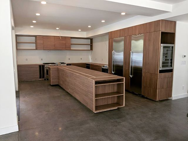 Just a little stain touch up and this one is complete! #mod #designbuild #architecture #custommillwork #customkitchen #denverco @millworkbymod