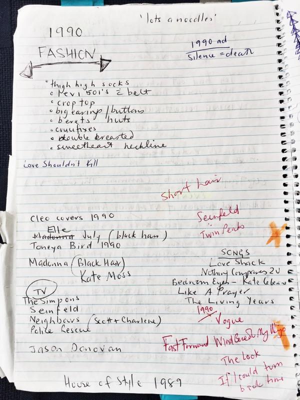 A list of some popular culture circa 1990.