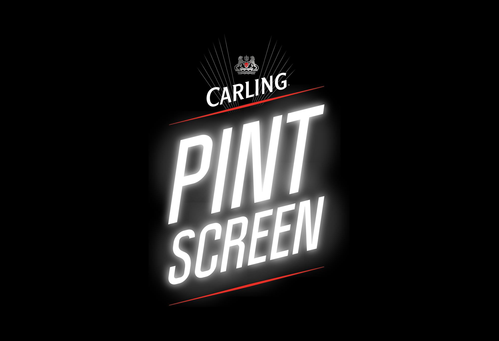 Carling Pint Screen logo