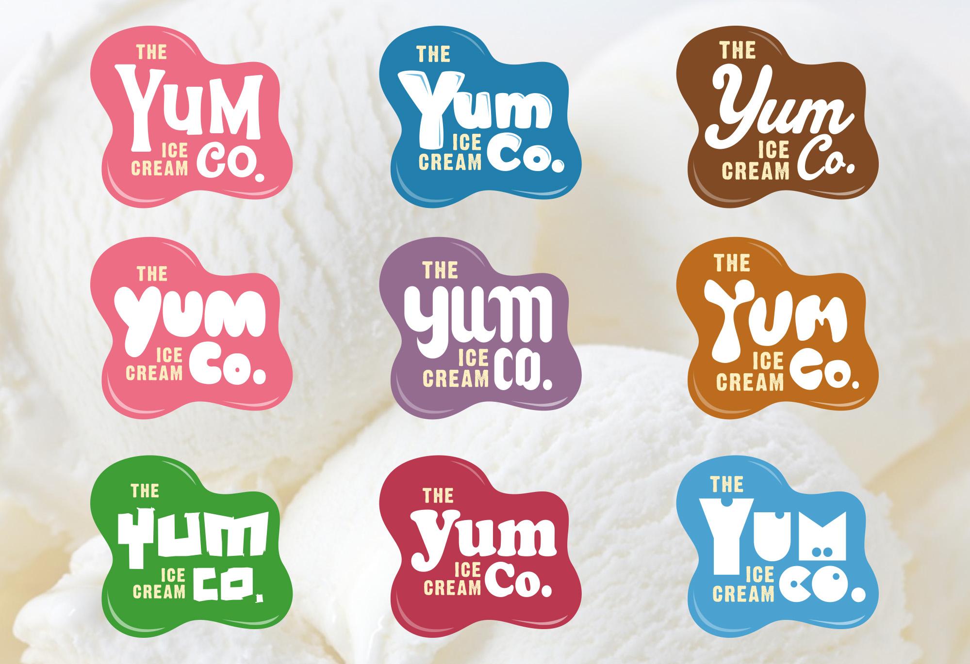 Pizza Hut The Yum Ice Cream Co. logo