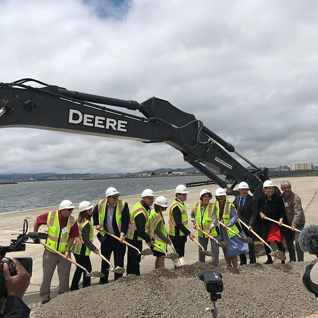 Finally breaking ground at Alameda Point's Site A📍 . . #alamedapoint #thebase #westend #alameda #california