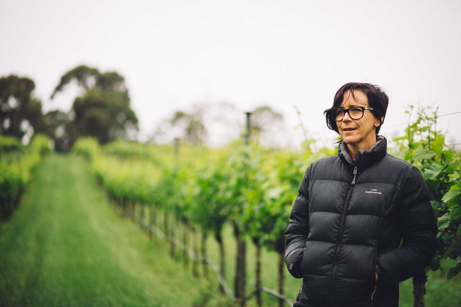 Lisa Sartori on her vineyard, Dirty Three Wines, Leongatha South, 2016, Source: Museums Victoria, Photographer: Catherine Forge