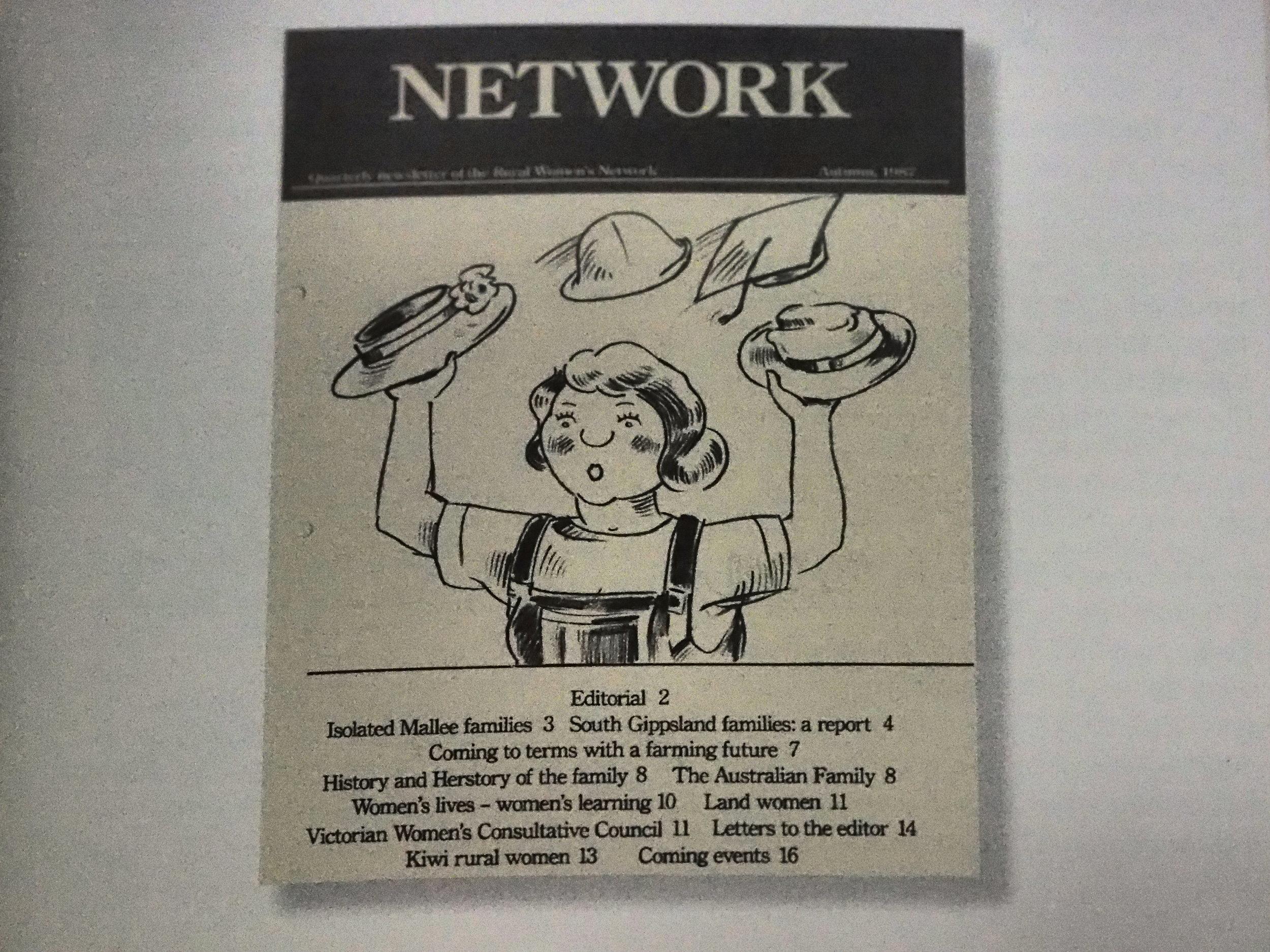 Inaugural Rural Women's Network Network Newsletter, 1987