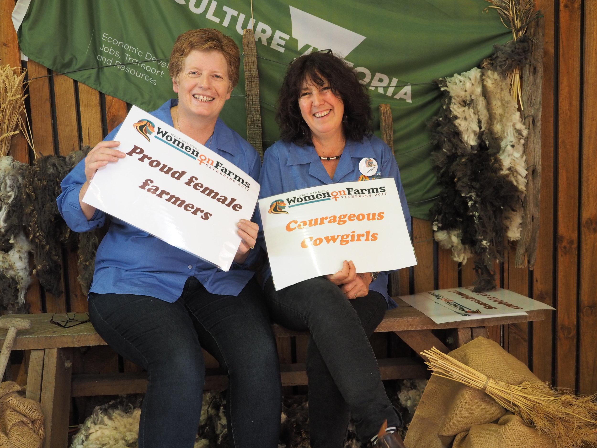 Harrow Women on Farms Gathering Committee Members Fiona Cameron and Annette Jones, Harrow, 2017