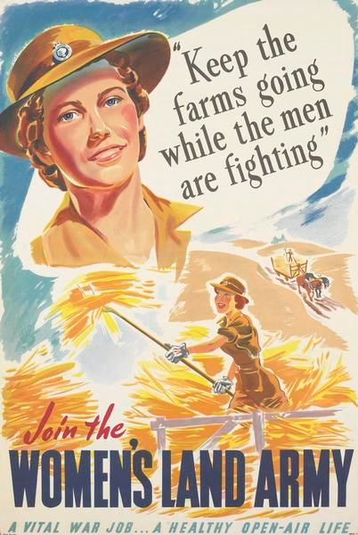 Promotional material, Australian Women's Land Army, c. 1942.