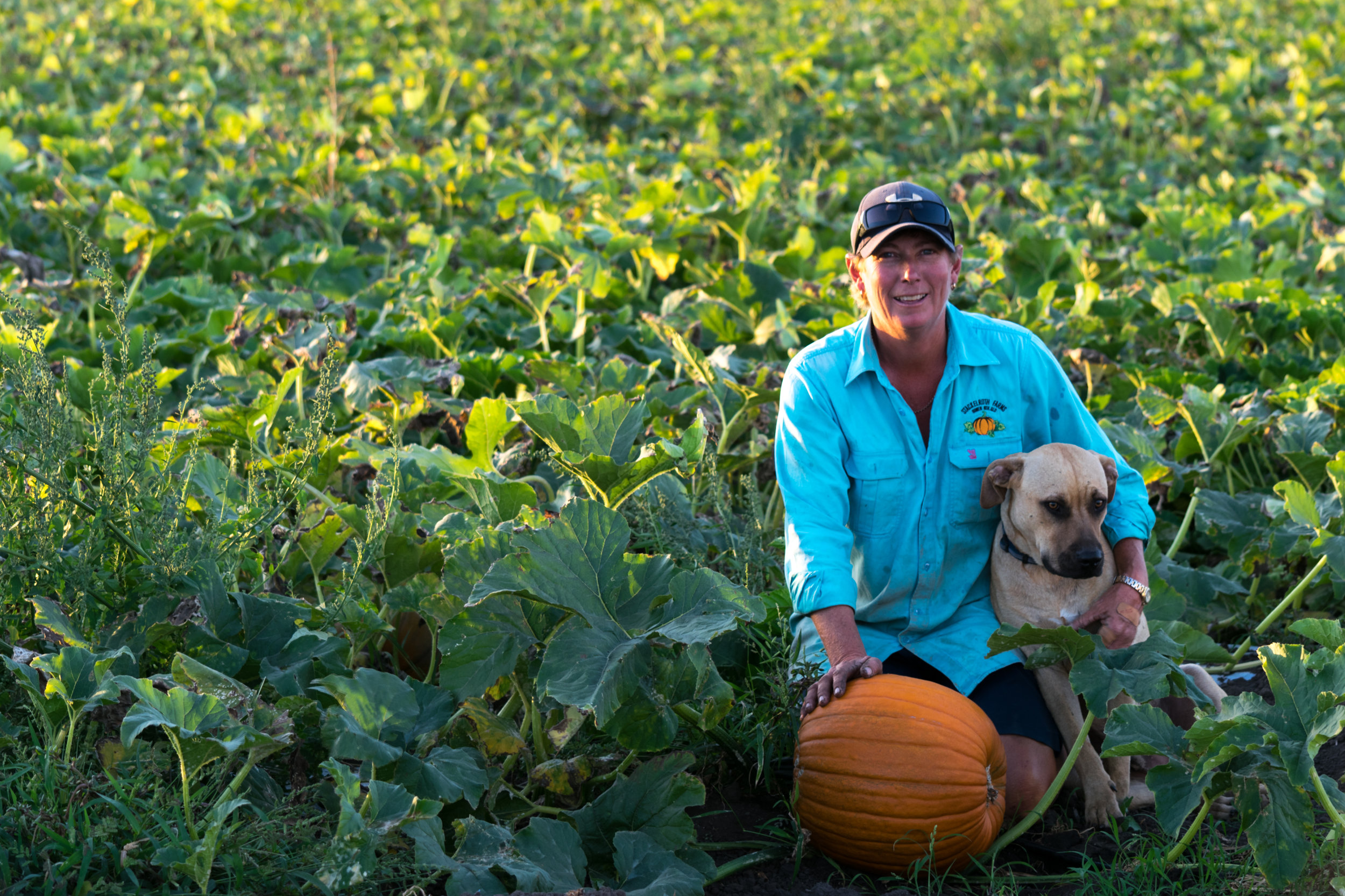 Belinda with her dog, Stackelroth Farms, image courtesy Shannon Kirk of De Lacy Kirk Photography.