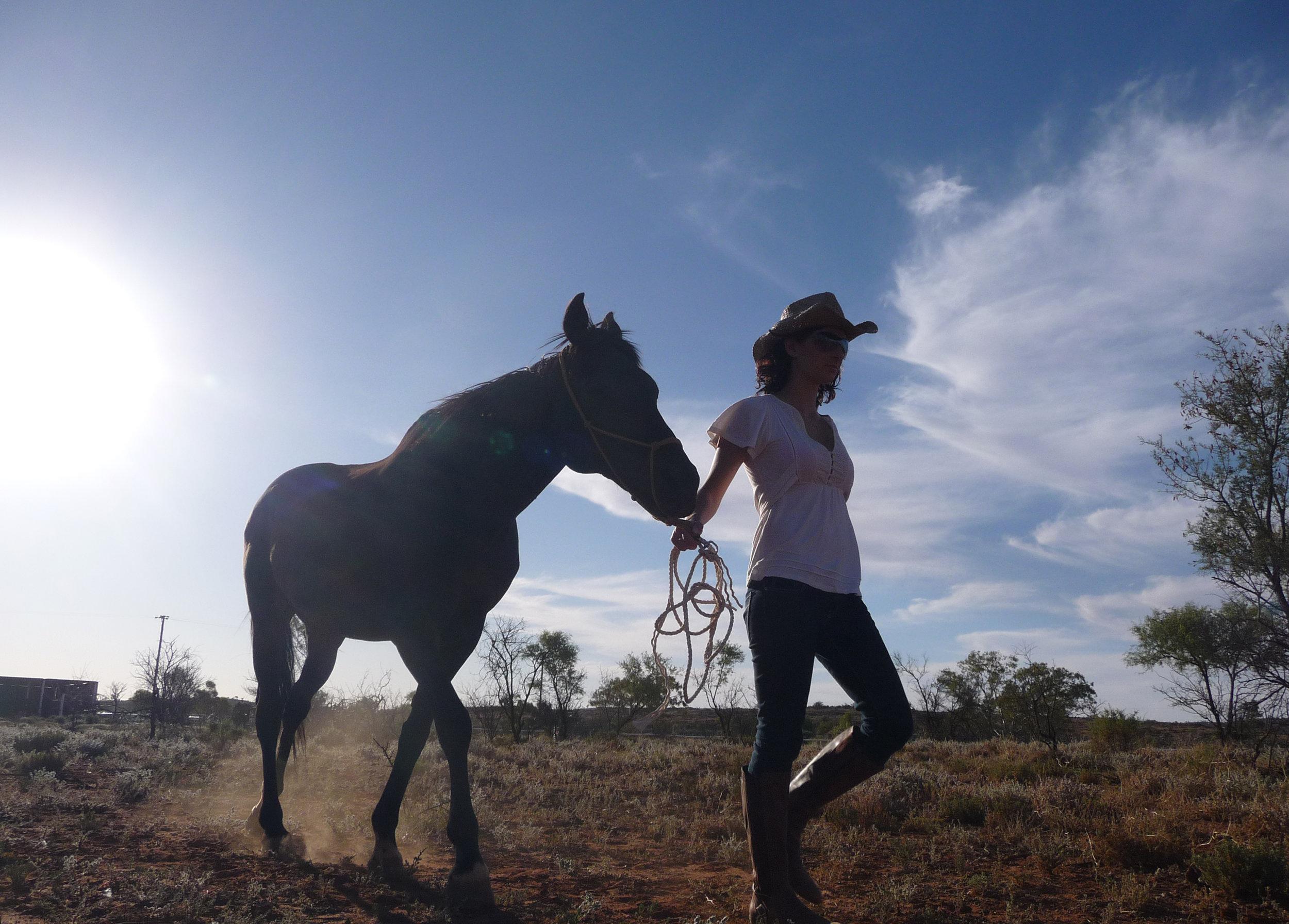 Anika Molesworth with horse, 2017, image supplied.