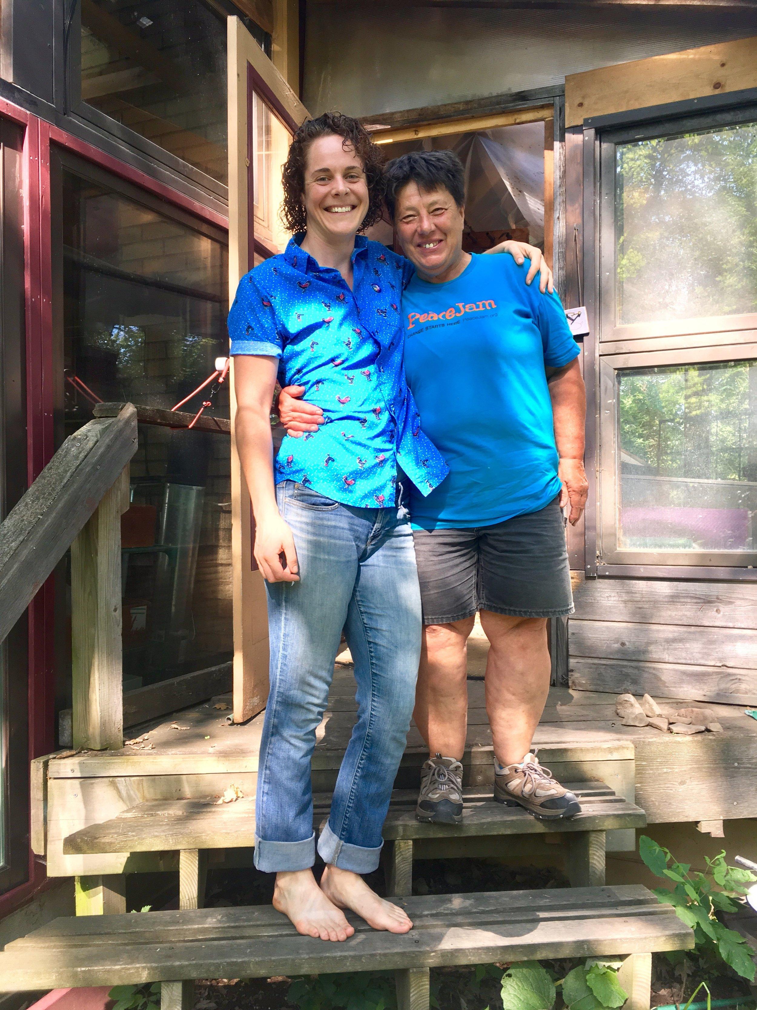 Jacyln with Nett on her Minnestota Farm, image supplied.